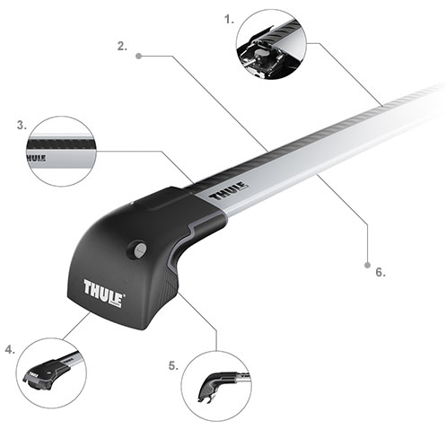 thule wingbar edge thule. Black Bedroom Furniture Sets. Home Design Ideas