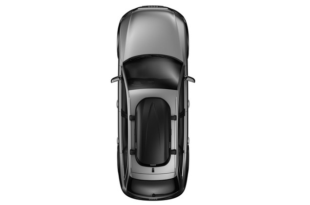 Rooftop cargo carrier Thule Pulse 614 M from above