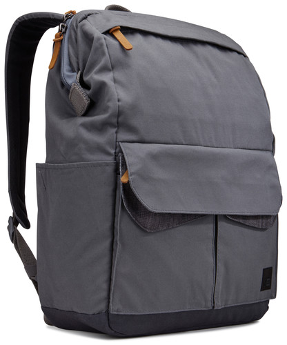 gray, tech-friendly work bag